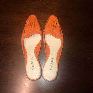 Beautiful Orange Prada shoes